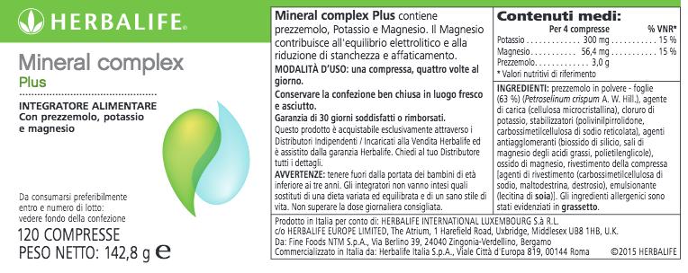 Mineral Complex Plus scheda