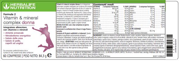 Formula 2 Donna Vitamin & Mineral Complex