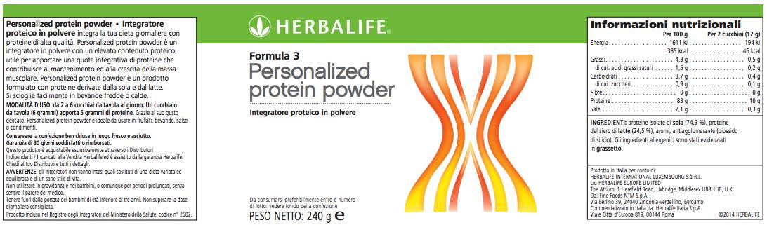 Formula 3 Herbalife Proteine