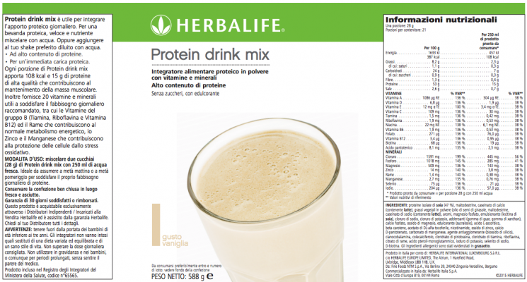 Protein Drink Mix Herbalife