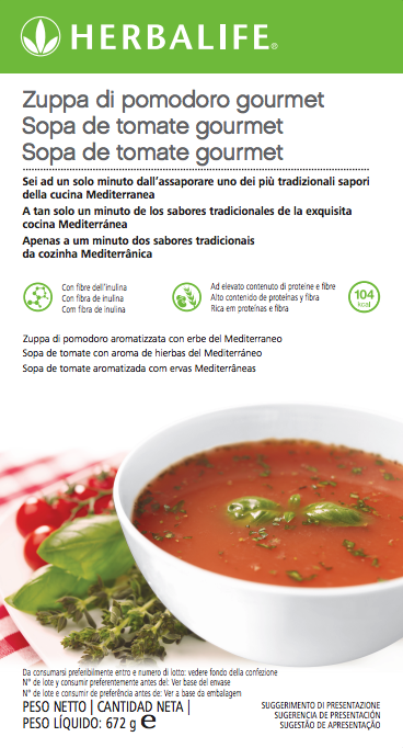 Zuppa di Pomodoro Herbalife gourmet etichetta